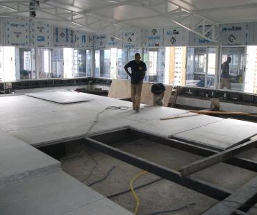 Instalação de piso wall. -
